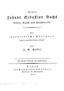 Johann Sebastian Bach: His Life, Art, and Work: Texto alemão by Johann Nikolaus Forkel