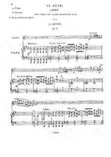Le Rêve. Scene for Violin and Piano, Op.6: Score by Alexandre Joseph Artôt
