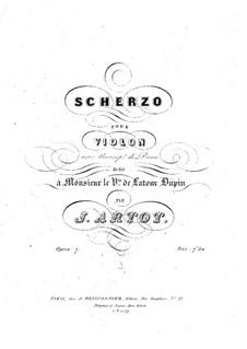 Scherzo for Violin and Piano, Op.7: Score by Alexandre Joseph Artôt