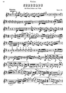 Serenade in D Major for Flute, Violin and Viola, Op.25: parte do violino by Ludwig van Beethoven