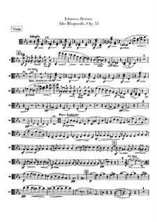Alto Rhapsody, Op.53: parte viola by Johannes Brahms