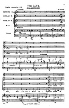 Two Cantatas, Op.31: No.2 The Dawn by Max Bruch