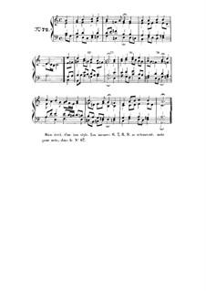 Choix de chorals: Choral No.72 by Johann Sebastian Bach