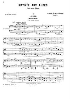 Matinée aux Alpes, Op.273: para piano de quadro mãos by Nicolò Celega