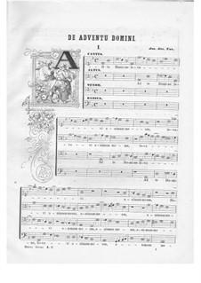 Offertorium pro Dominica I. Adventus. Ad te Domine, K.153: Partitura vocal by Johann Fux