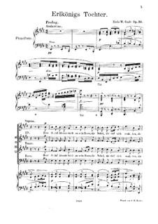 Elverskud (Elf-King's Daughter), Op.30: Partitura piano-vocal by Niels Wilhelm Gade