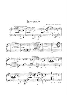 Rebus. Intermezzo in G Major, Op.2a No.2: Rebus. Intermezzo in G Major by Niels Wilhelm Gade
