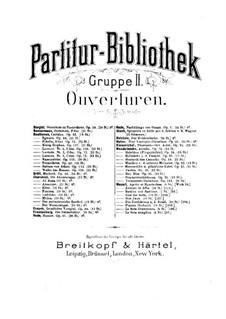 Hamlet. Overture, Op.37: partitura completa by Niels Wilhelm Gade