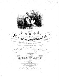 Agnete og Havfruerne (Agnete and the Mermaids), Op.3: Partitura piano-vocal by Niels Wilhelm Gade