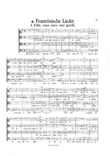 Secular Works: French Songs by Heinrich Isaac