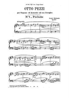 Eight Easy Pieces for Organ (or Harmonium), Op.203: Eight Easy Pieces for Organ (or Harmonium) by Luigi Bottazzo