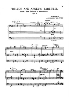 The Dream of Gerontius, Op.38: Prelude and Angel's Farewell, for organ by Edward Elgar