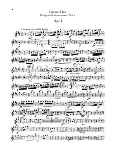 March No.1: parte de oboes by Edward Elgar