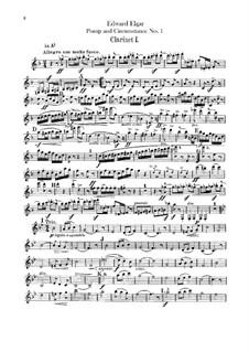 March No.1: parte clarinetas by Edward Elgar