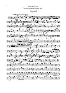 March No.1: parte fagotes by Edward Elgar