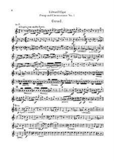 March No.1: parte trompa by Edward Elgar