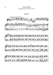 March No.1: parte harpas by Edward Elgar
