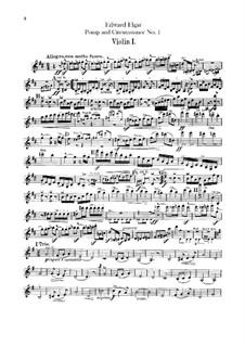 March No.1: parte violinos by Edward Elgar