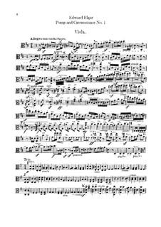 March No.1: parte violas by Edward Elgar