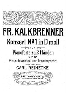 Piano Concerto No.1, Op.61: Partitura piano by Friedrich Kalkbrenner