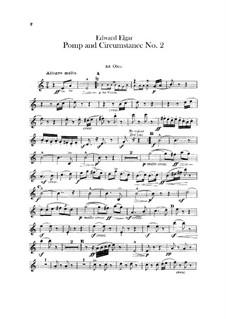March No.2: parte de oboes by Edward Elgar