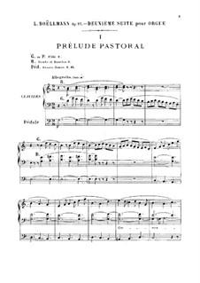 Suite No.2 for Organ, Op.27: Suite No.2 for Organ by Léon Boëllmann