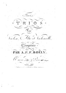 Three String Trios, Op.5: No.3 – violin part by Alexandre Pierre François Boëly