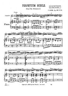 Six miniatures for Violin and Piano, Op.187: No.4 Perpetuum Mobile by Carl Böhm