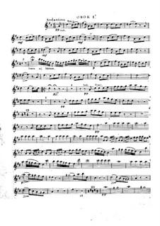 Le calife de Bagdad: Oboe parte I by Adrien Boieldieu