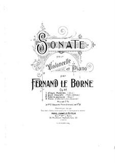 Sonata for Cello and Piano, Op.41: partitura by Fernand Le Borne