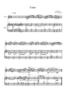 Movement II (Largo): para flauta e piano by Antonín Dvořák
