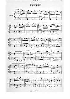 Gillette de Narbonne: Ato II. Arranjo para vozes e piano by Edmond Audran
