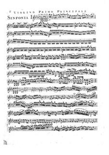Symphony No.2 in E Flat Major, G.504 Op.12: Violin I solo part by Luigi Boccherini