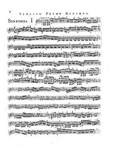Symphony No.2 in E Flat Major, G.504 Op.12: Violin I ripieno part by Luigi Boccherini