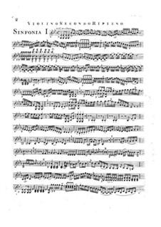 Symphony No.2 in E Flat Major, G.504 Op.12: Violin II ripieno part by Luigi Boccherini