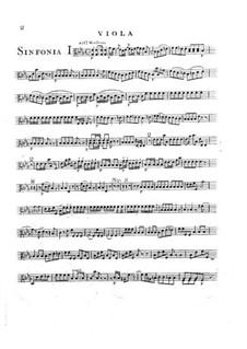 Symphony No.2 in E Flat Major, G.504 Op.12: parte violas by Luigi Boccherini