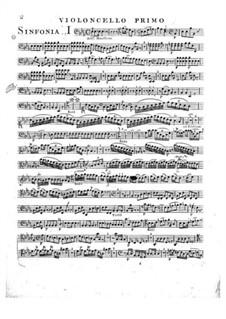 Symphony No.2 in E Flat Major, G.504 Op.12: violoncelo parte I by Luigi Boccherini