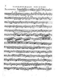 Symphony No.2 in E Flat Major, G.504 Op.12: violoncelo parte II by Luigi Boccherini