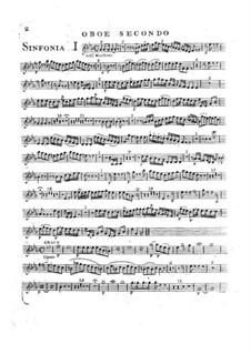 Symphony No.2 in E Flat Major, G.504 Op.12: Oboe parte II by Luigi Boccherini