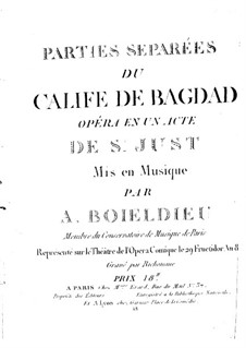 Le calife de Bagdad: French II horn part by Adrien Boieldieu