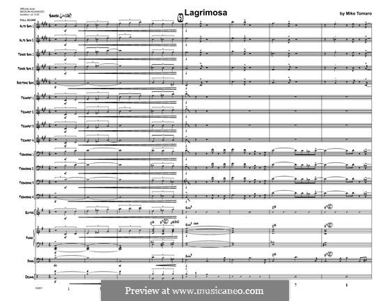 Lagrimosa: partitura completa by Mike Tomaro