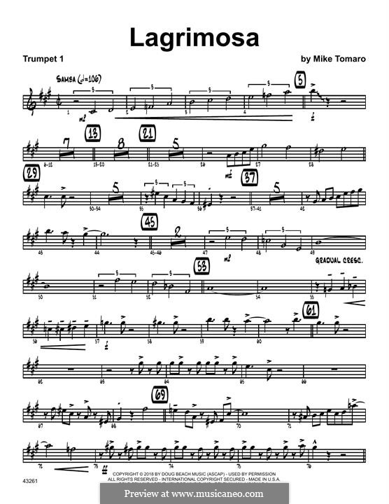 Lagrimosa: 1st Bb Trumpet part by Mike Tomaro