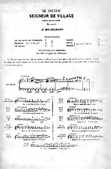 Le nouveau seigneur de village (New Village Squire): Partitura Piano-vocal by Adrien Boieldieu