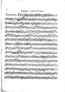 Symphony No.1 in D Major, G.503 Op.12: Oboe parte II by Luigi Boccherini