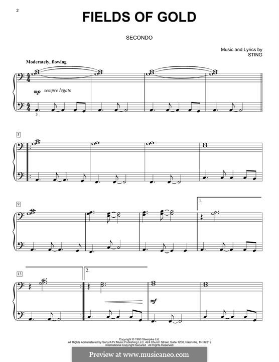 Fields of Gold: Para Piano by Sting