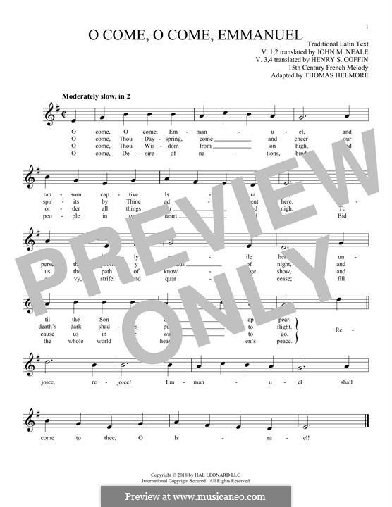 O Come, O Come, Emmanuel: para flauta by folklore