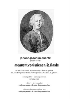 Minuet and Variations: para flauta e guitarra by Johann Joachim Quantz