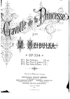 Gavotte de la princesse, for Piano, Op.334: Gavotte de la princesse, for Piano by Alphons Czibulka