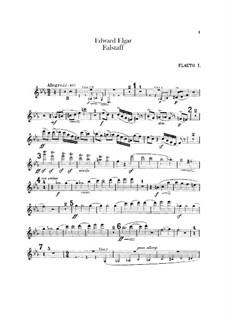 Falstaff. Symphonic Study, Op.68: parte de flautas by Edward Elgar
