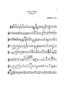Falstaff. Symphonic Study, Op.68: parte trompetas by Edward Elgar